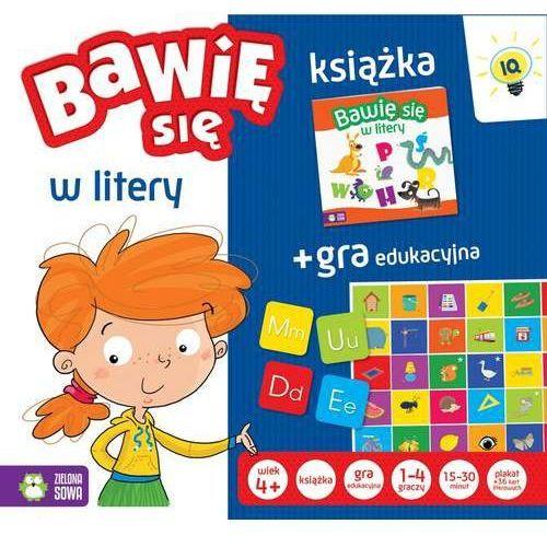 Zielona sowa Bawię sie w litery książka + gra (5901761112924)