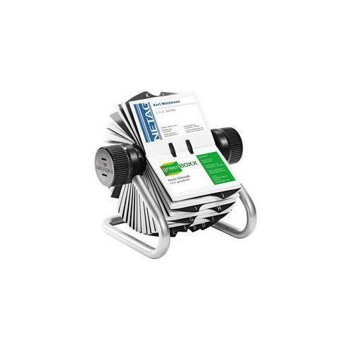 Wizytownik obrotowy visifix 400 wizytówek srebrny marki Durable