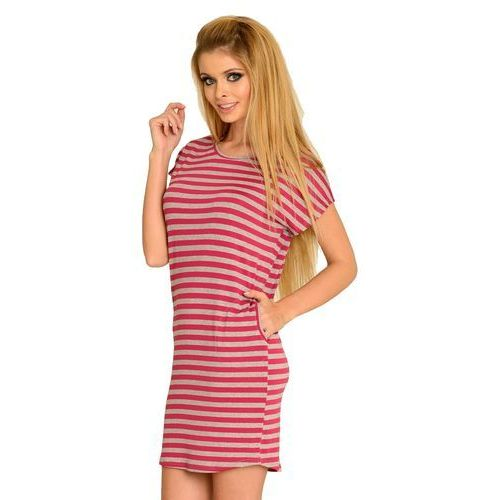 Koszula De Lafense 539 Jovite S, różowo-szary/amarantowy-szary, De Lafense, 32926805390112200