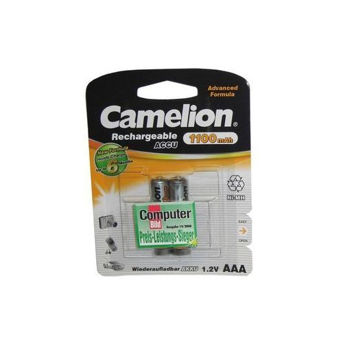 Camelion Akumulator Ni-MH AAA (R03), 1100 mAh, 2-pack (NH-AAA1100BP2) Darmowy odbiór w 21 miastach!