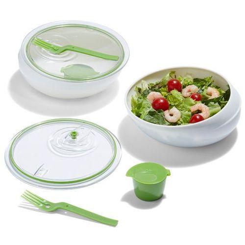 Black+Blum - pojemnik na posiłki Lunch bowl - biało-zielony, kolor zielony
