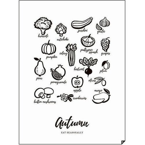 Plakat autumn - eat seasonally 21 x 30 cm marki Follygraph