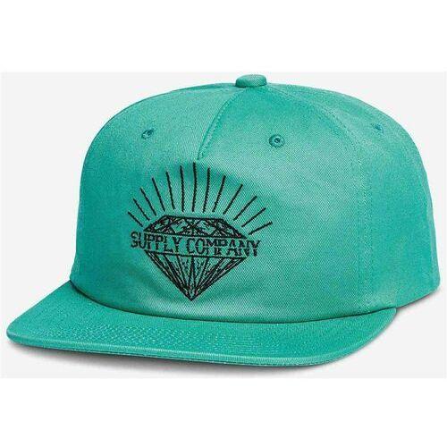 czapka z daszkiem DIAMOND - Split Unstructured Snapback Diamond Blue (DBLU), kolor niebieski