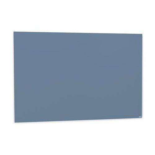Szklana tablica suchościeralna, 1500x1000 mm, szaroniebieski