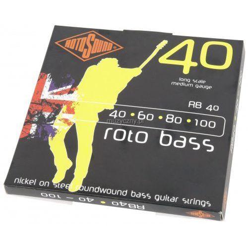 rb 40 struny do gitary basowej 40-100 marki Rotosound