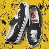 Vans Buty - classic slip-on (peanuts) best friends/true white (qtz) rozmiar: 36.5