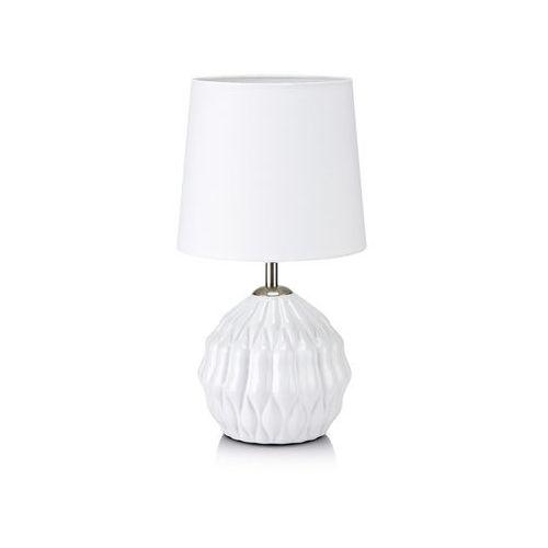 Lampa stołowa lora e14 1 x 40 w biała marki Markslojd