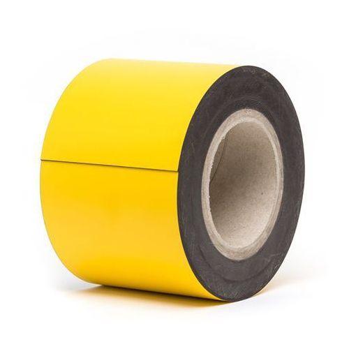 Haas Magnetyczna tablica magazynowa, żółte, rolka, wys. 100 mm, dł. rolki 10 m. zapew