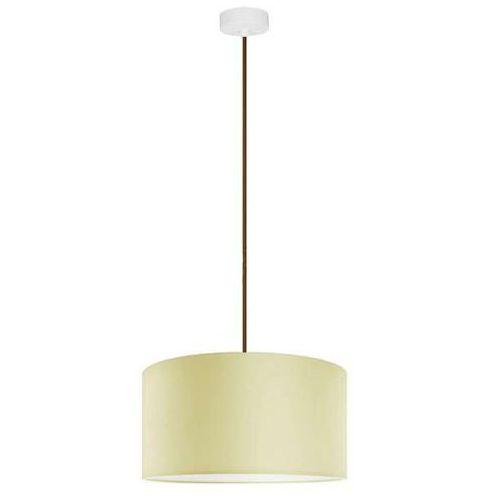 Klasyczna LAMPA wisząca MIKA L1/S/ECRU Sotto Luce abażurowa OPRAWA okrągła ecru, kolor Ecru