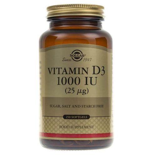 Kapsułki Solgar Witamina D3 1000 IU (25 µg) - 250 kapsułek