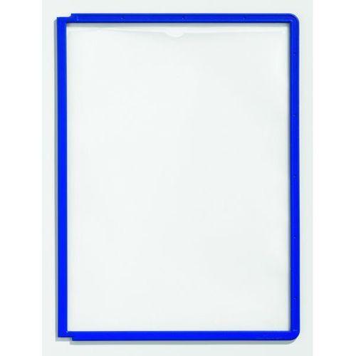 Durable Tablice przezroczyste z ramą profilowaną, do din a4, opak. 10 szt., niebieski, o