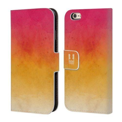 Etui portfel na telefon - Watercoloured Ombre Pink And Yellow, kolor różowy