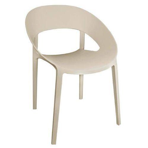 Krzesło beżowe | 4 szt. | (h)44cm marki Bolero