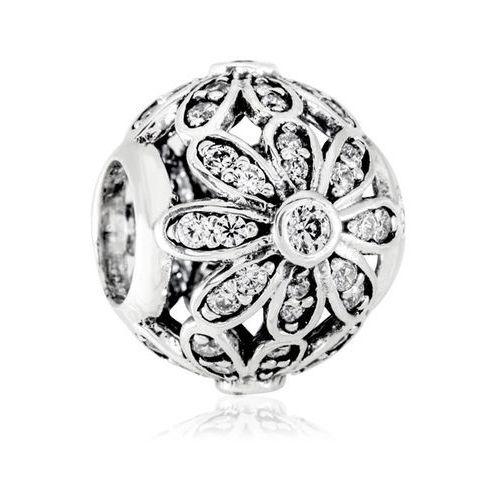 Charms koralik srebrny brylantowe stokrotki marki Murrano