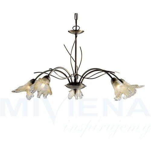 Lampa wisząca lily 5-punktowa, stary mosiądz marki Searchlight
