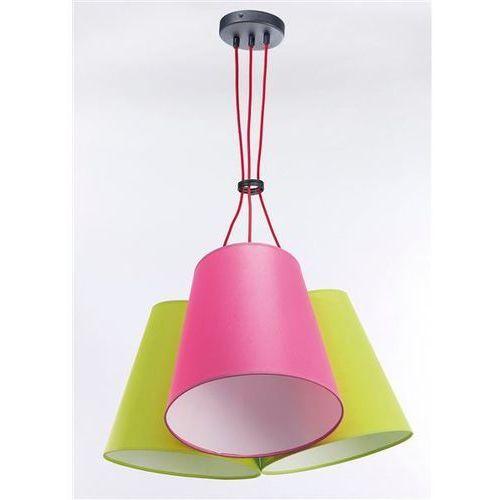 Lampa Wisząca NECAR 3 3220 - Róż/Pistacja, kolor Róż/Pistacja