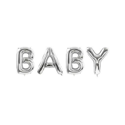 Balon foliowy srebrny napis Baby - 262 x 86 cm (5900779114470)