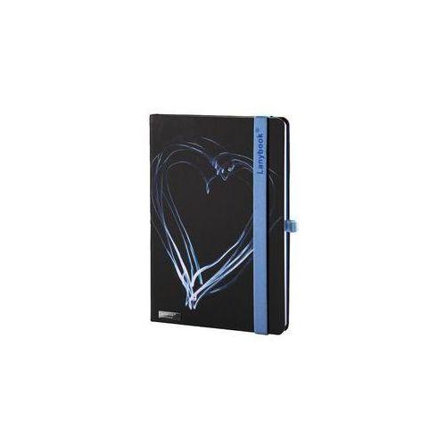 Notes A6 Lanybook Night Light w kratkę czarny z niebieską gumką z kategorii Notesy