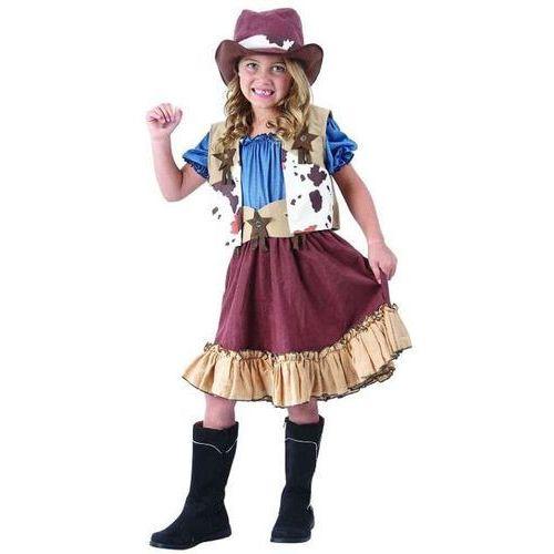"""Godan _xx_strój """"kowbojka"""" (kamizelka, bluzka, spódnica, kapelusz, pasek), rozm.130/140"""