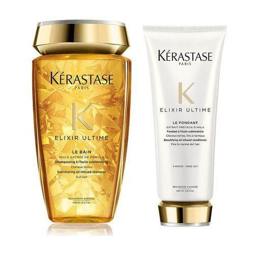 Kerastase Elixir Ultime | Zestaw do każdego rodzaju włosów: kąpiel 250ml + odżywka 200ml (9753198542057)