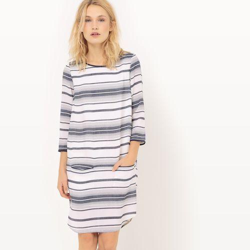 Sukienka w paski z długim rękawem, Vila