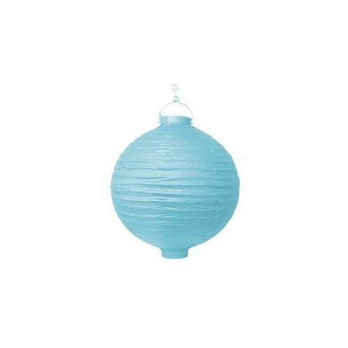Świecący ogrodowy lampion papierowy 20 cm, błękitny, 1 szt.