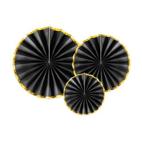 Party deco Rozetki wiszące czarne - 3 szt. (5902230775961)