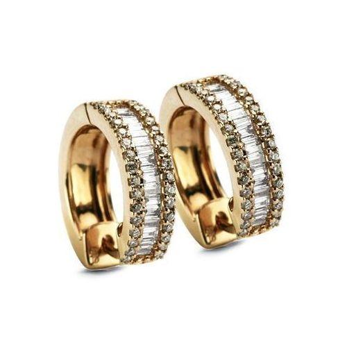 Złote kolczyki kzd1176 - diament marki Staviori