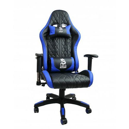 FOTEL Gamingowy obrotowy dla gracza DEUS ONLY BLUE, Only Blue