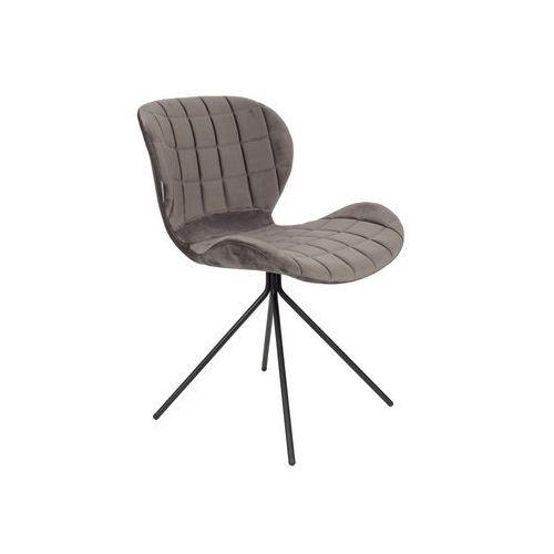 Zuiver Krzesło OMG VELVET szare 1100365, 1100365
