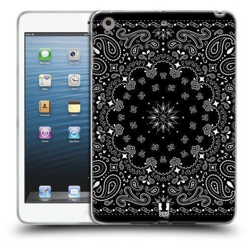 Etui silikonowe na tablet - classic paisley bandana black marki Head case