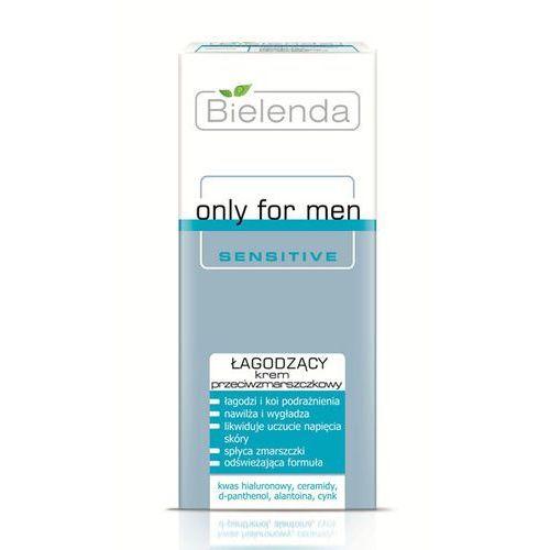 Bielenda  only for men sensitive krem kojący przeciw zmarszczkom (hyaluronic acid, ceramides, d-panthenol, alantoin, zinc) 50 ml