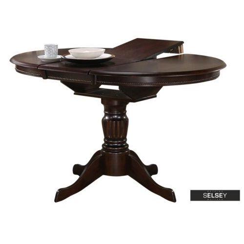 SELSEY Stół rozkładany Valle 90-124x90 cm orzech (5903025288338)