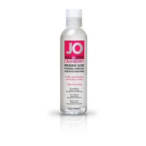 Jo Sexshop - żel do masażu i lubrykant - system  massage glide cranberry 120 ml żurawina - online