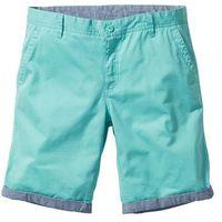 Bonprix Bermudy chino z wywiniętymi nogawkami regular fit zielony
