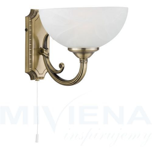 Searchlight Windsor kinkiet 1 patyna szkło (5013874360946)