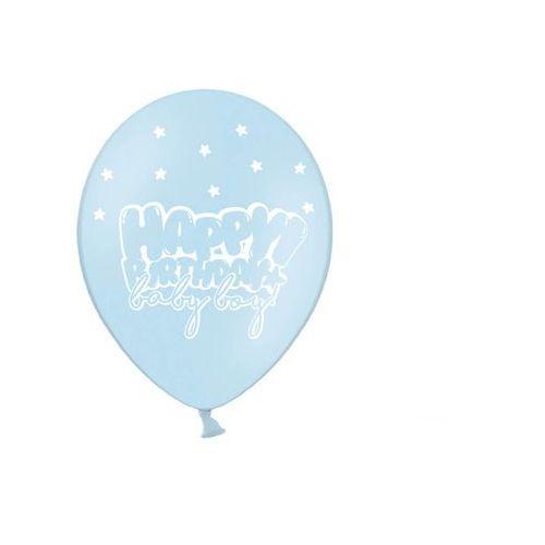 Twojestroje.pl Balon błękit happy b-day baby boy 30cm 1/50 (5902230763661)