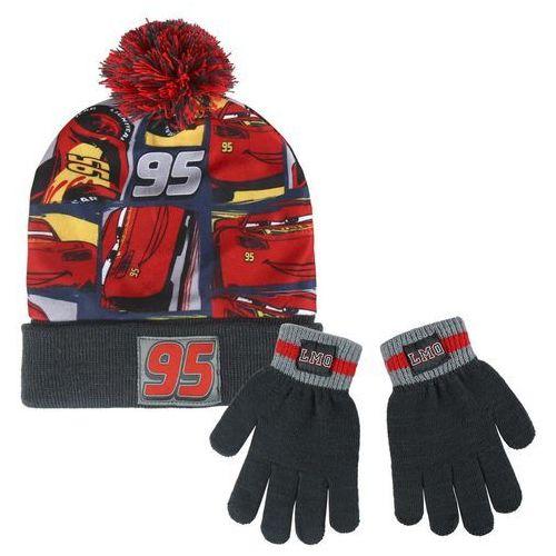 Cerda Komplet: czapka jesienna / zimowa i rękawiczki cars - auta