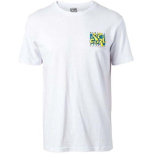 Koszulka - live your search tee optical white (3262) rozmiar: s marki Rip curl
