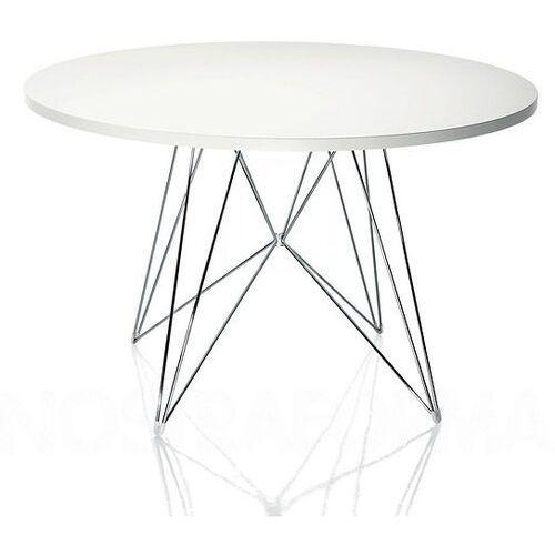 Stół xz3 okrągły biały blat chromowana rama marki Magis