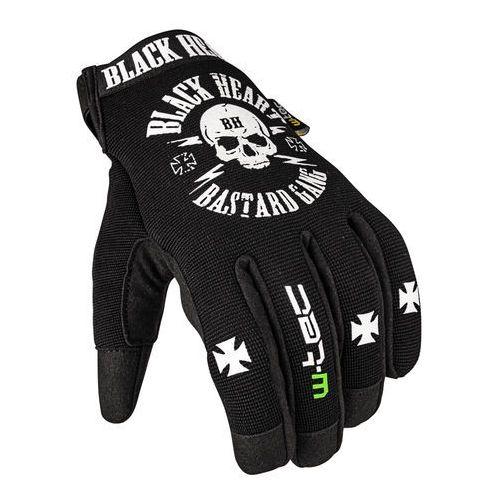 Rękawice motocyklowe black heart radegester, czarny, s marki W-tec