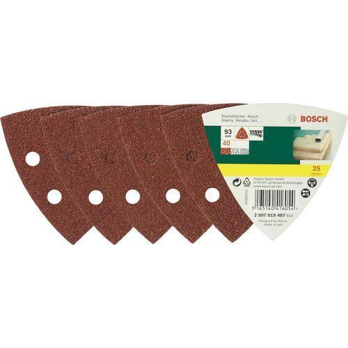 Zestaw papierów ściernych BOSCH Promoline 93 mm (25 elementów) (3165140416054)