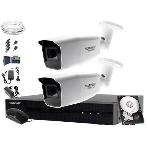 System monitoringu biura, firmy, parkingu Hikvision Hiwatch HWD-7104MH-G2, 2 x HWT-B340-VF, 1TB, Akcesoria