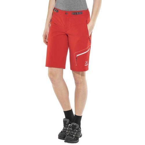 lizard spodnie krótkie kobiety czerwony 40 2018 szorty syntetyczne, Haglöfs