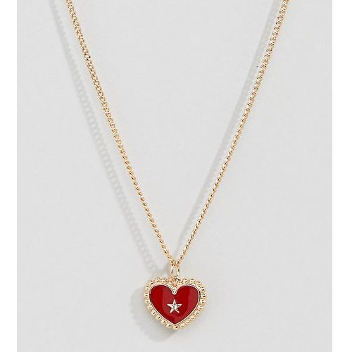 Liars & Lovers gold enamel heart pendant necklace - Gold