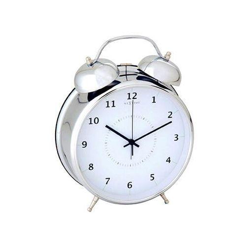 Budzik 9 cm wake up silver marki Nextime