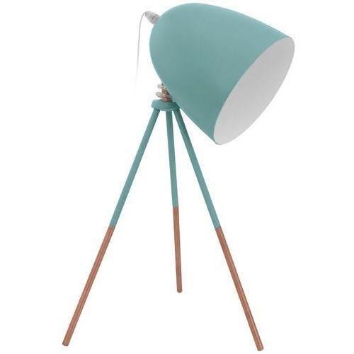 Lampa stołowa Eglo Dundee 49337 Vintage lampka oprawa 1x60W E27 miętowa