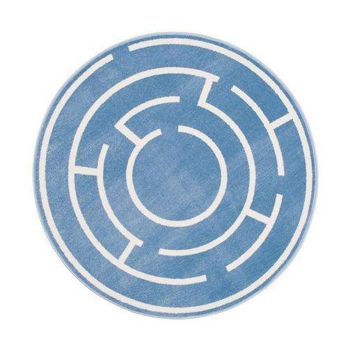 Dywan okrągły LABI lazurowy śr. 133 cm INSPIRE (5901760074445)