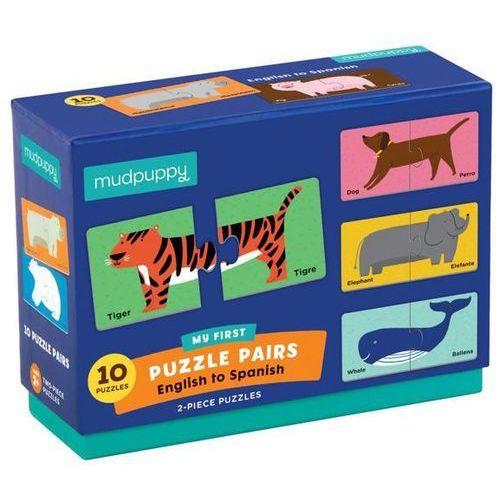 Mudpuppy  dwujęzyczne puzzle ze zwierzątkami - angielski/hiszpański