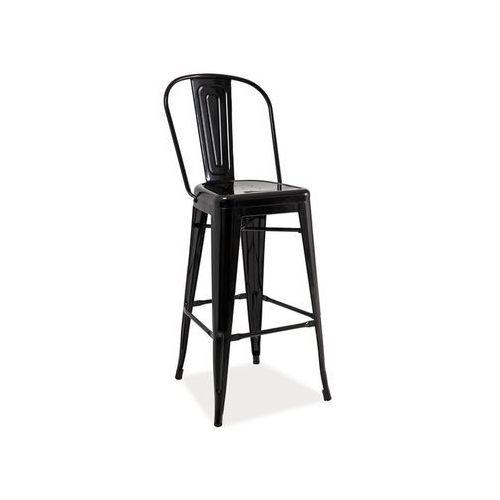 Hoker, krzesło barowe LOFT H-1 black, LOFT H-1 BK